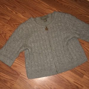 Ply Cashmere Full Zip Sweater
